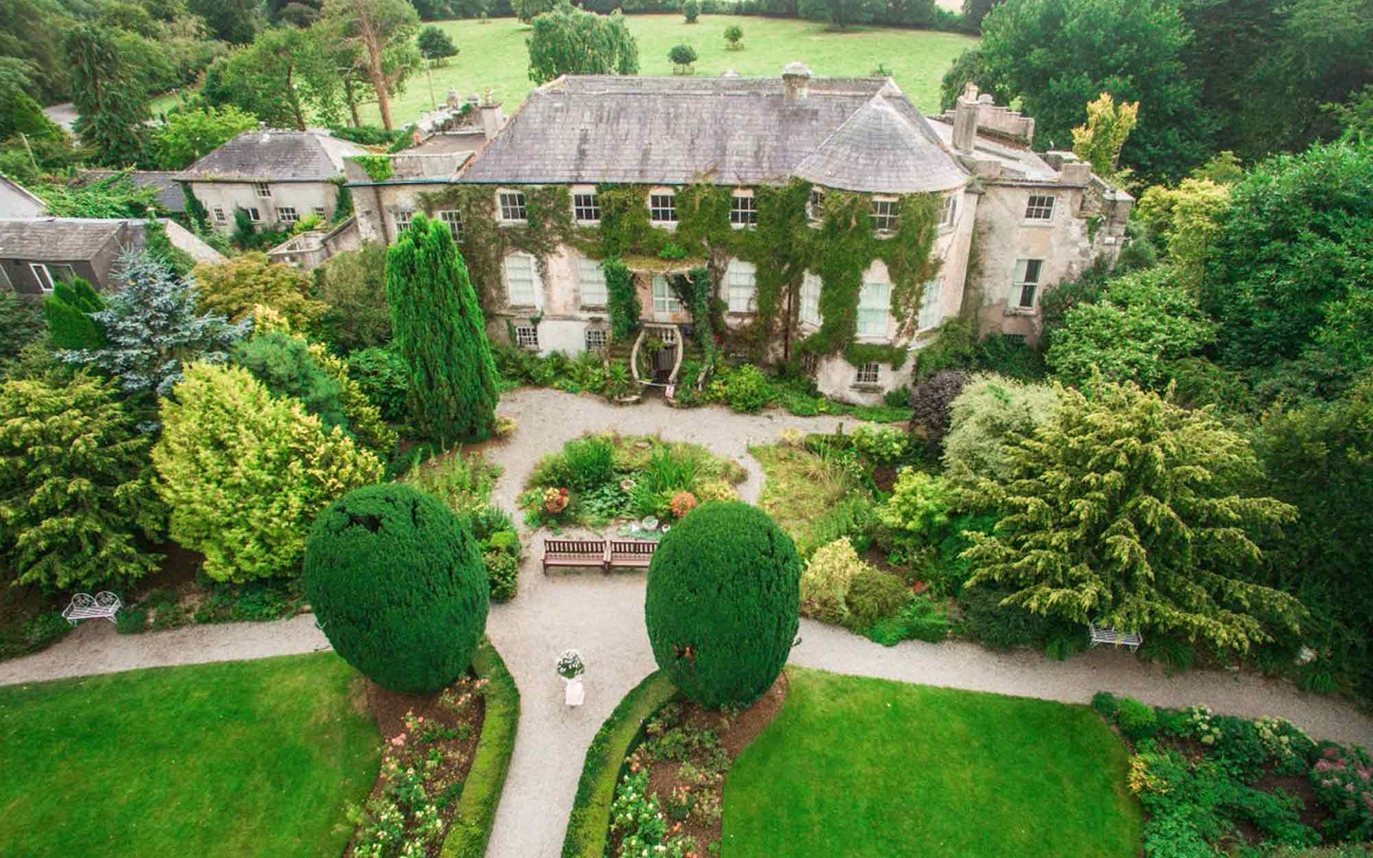 Aerial view of Altamont Gardens