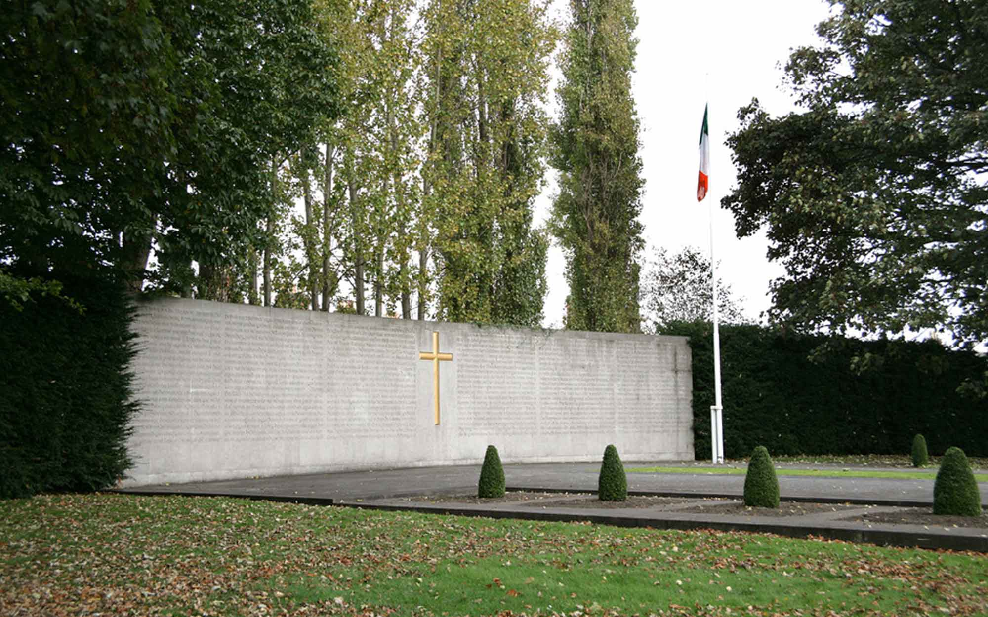Left side view of the Arbour Hill memorial