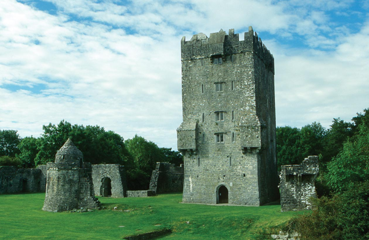 Exterior view of Aughnanure Castle