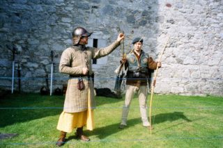 Archery re-enactment at Barryscourt Castle