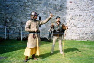 Archery re-enactment at Barryscourt Castle