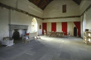 Great Hall at Barryscourt Castle