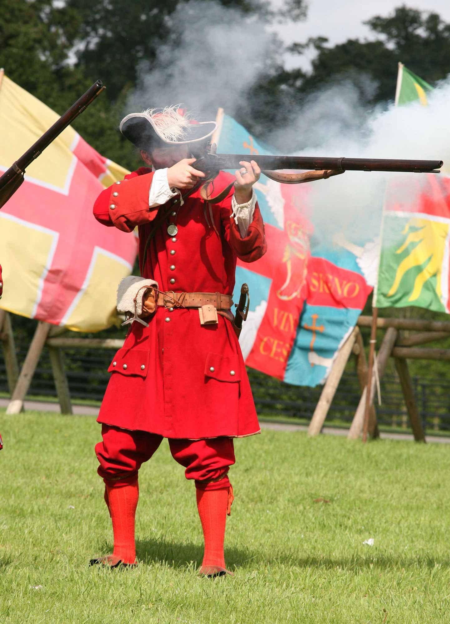 Musket firing display