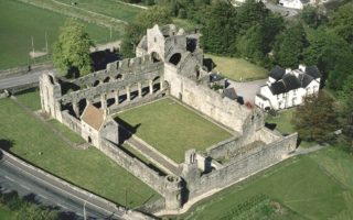 Aerial photo overlooking Boyle Abbey