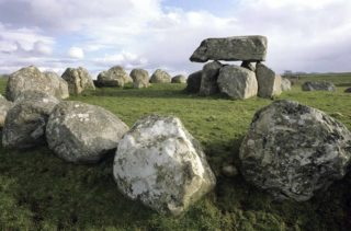 Close up of passage tomb
