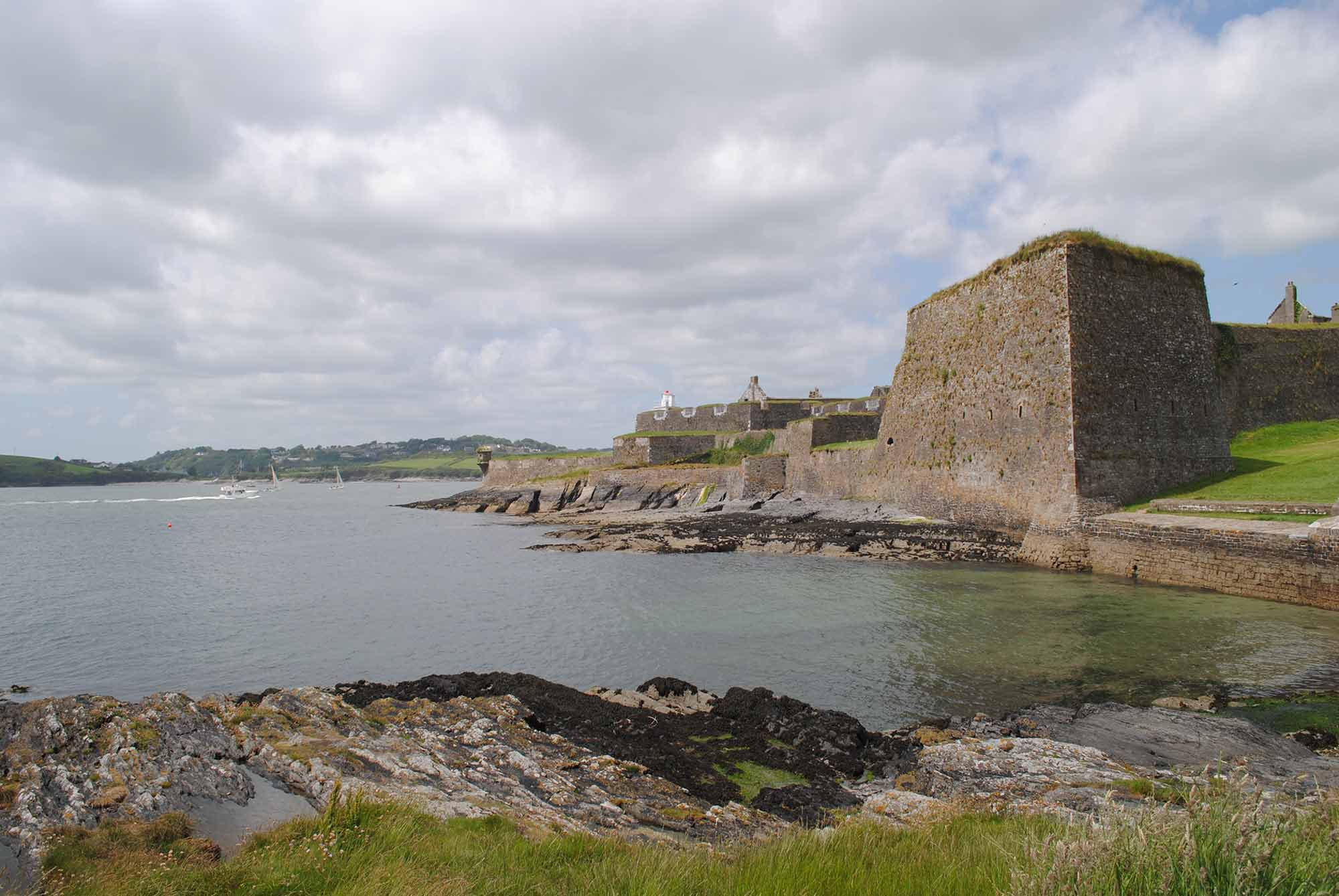 View of Charles Bastion from Charles Fort Coastal Walk