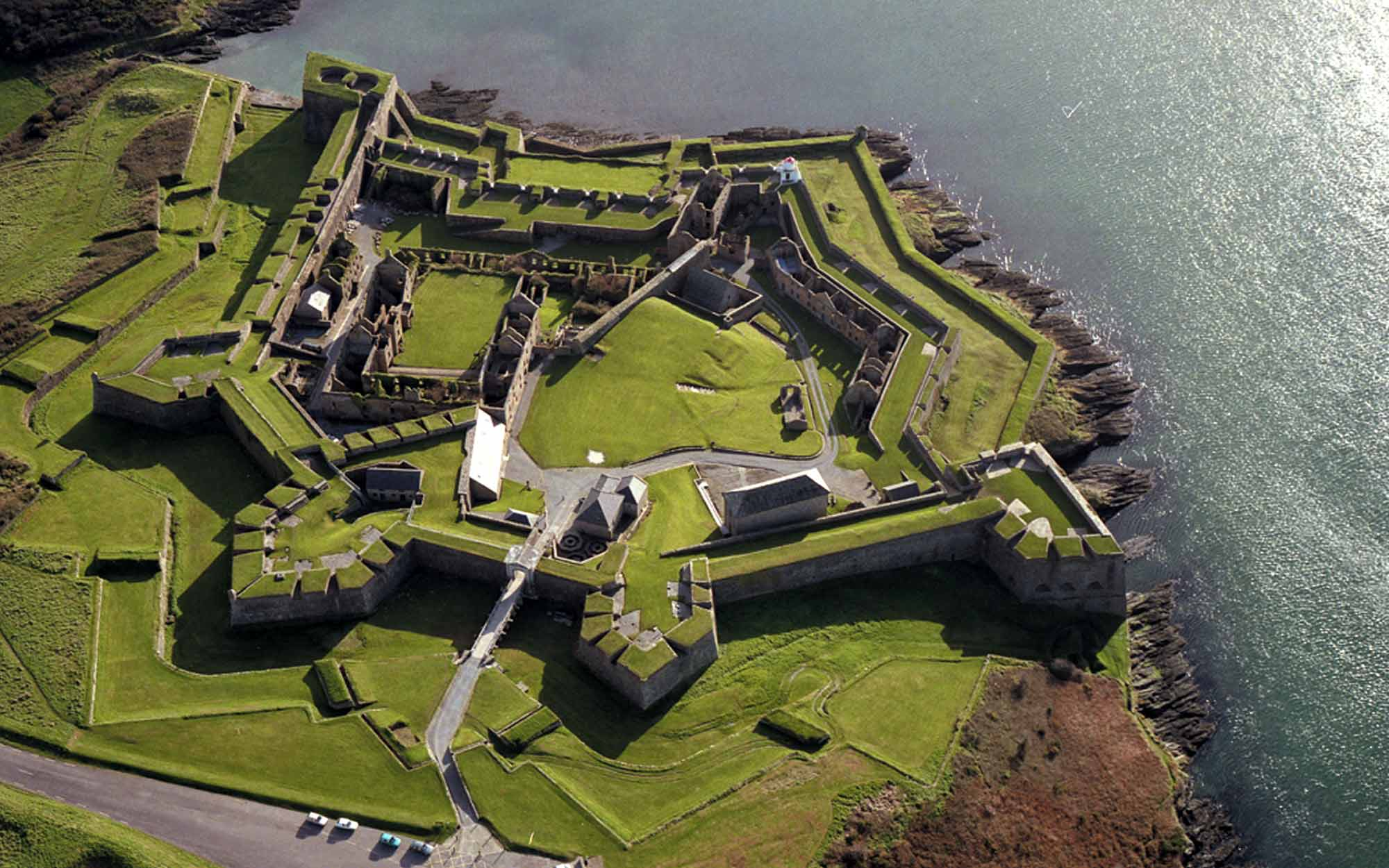 Aerial view of Charles Fort