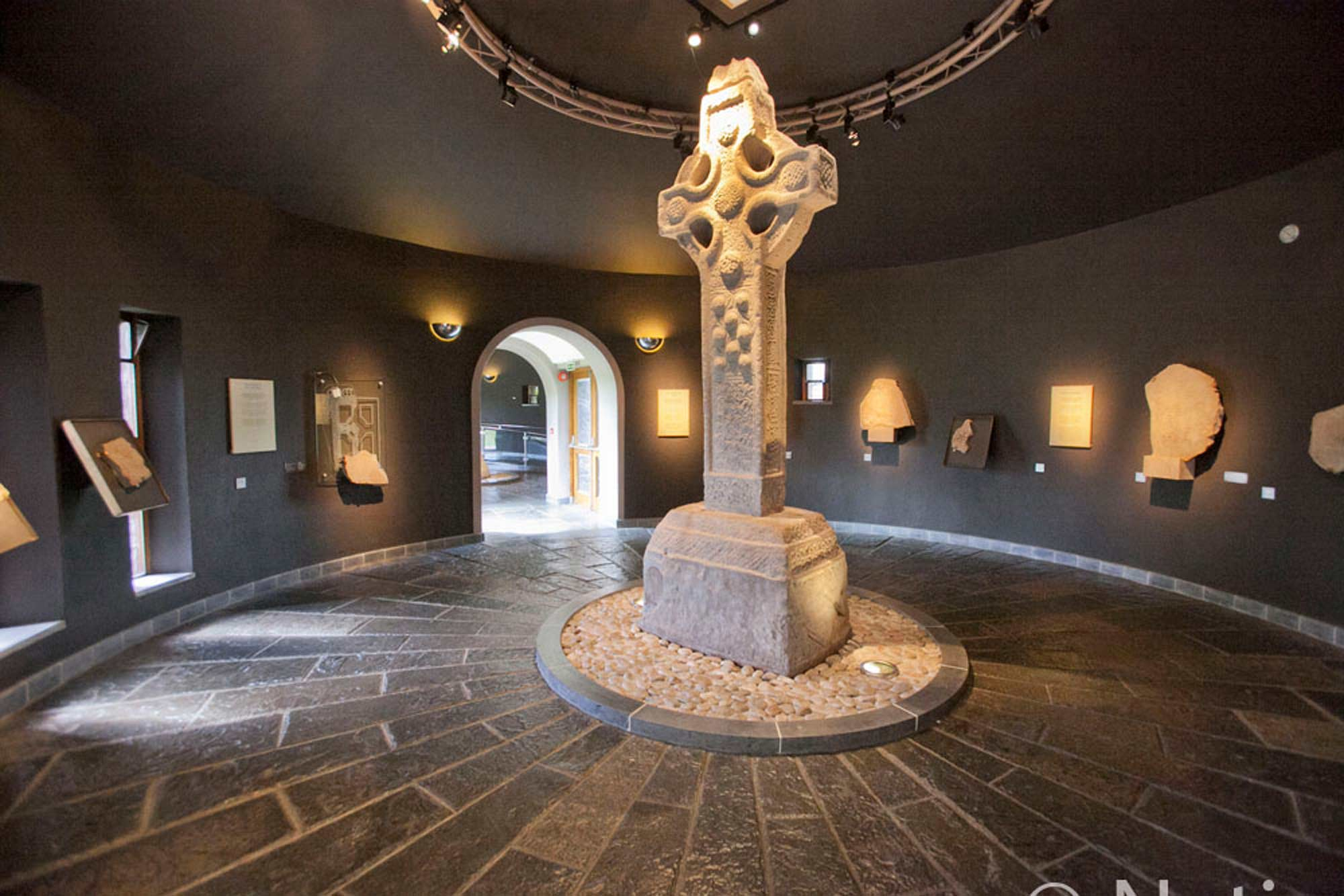The original High Crosses and a selection of the graveslabs are now on display in a purpose built exhibition area while replica crosses are on display onsite.