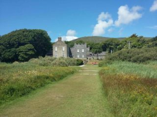 View of Derrynane House from the beach