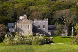 View of Derrynane House from the garden