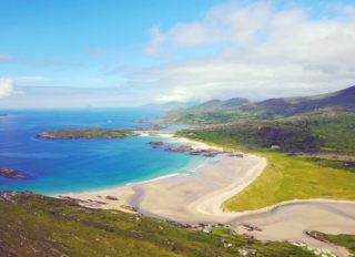 The beach and coastal area around Derrynane House