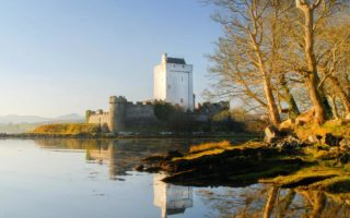 Doe Castle with reflection in the water
