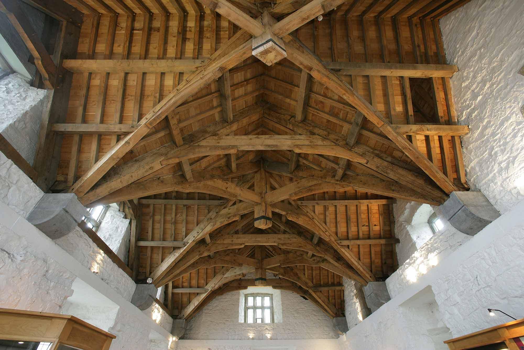 Wooden roof inside Donegal Castle