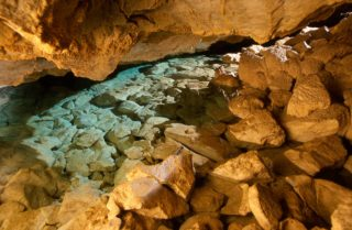 Water in the cave