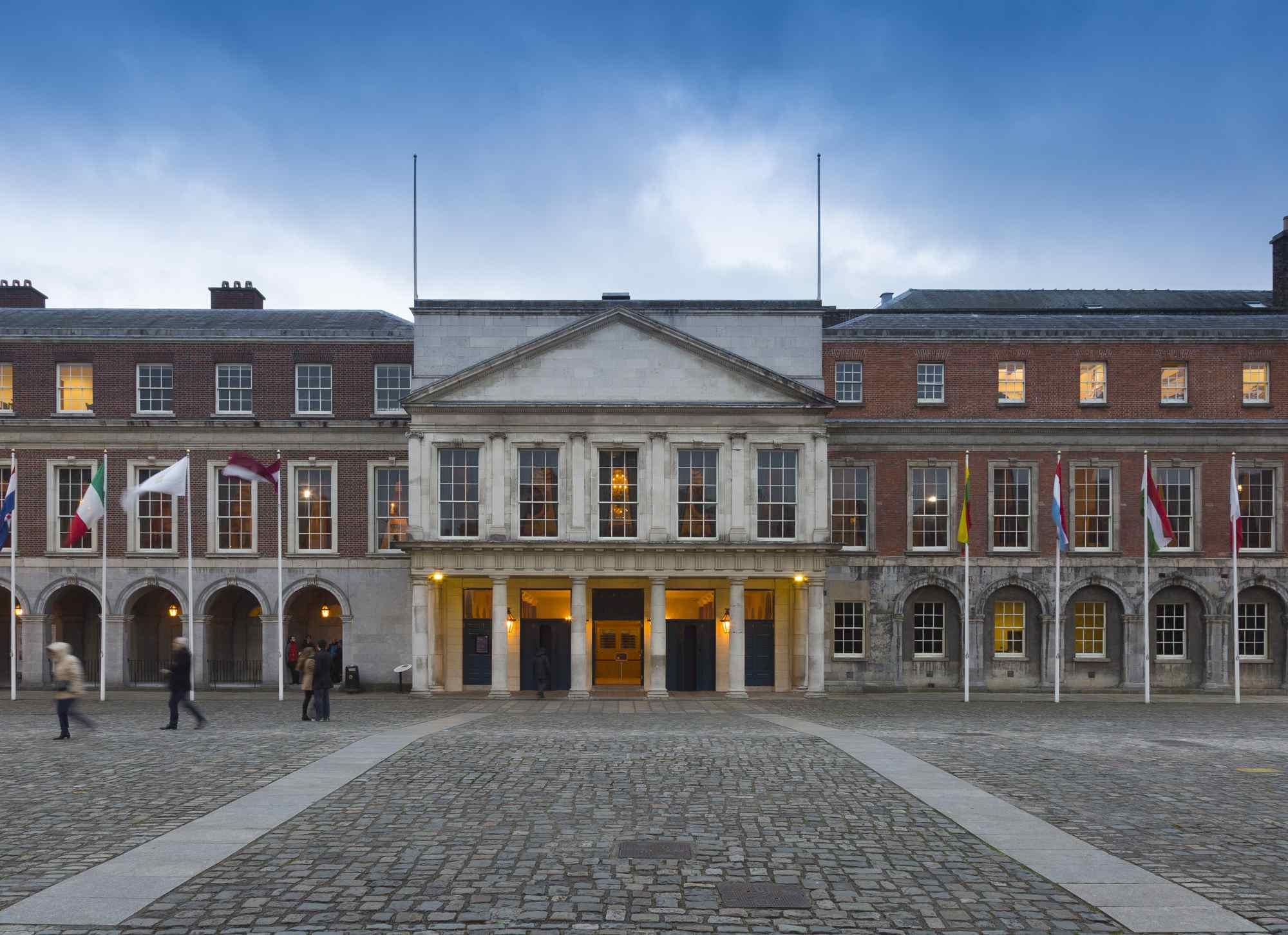 Facade of Dublin Castle