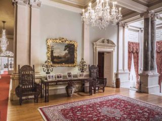 Farmleigh House Interior with intricate tables and chairs