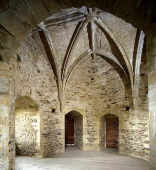 The 12th century chapel with vaulted ceiling