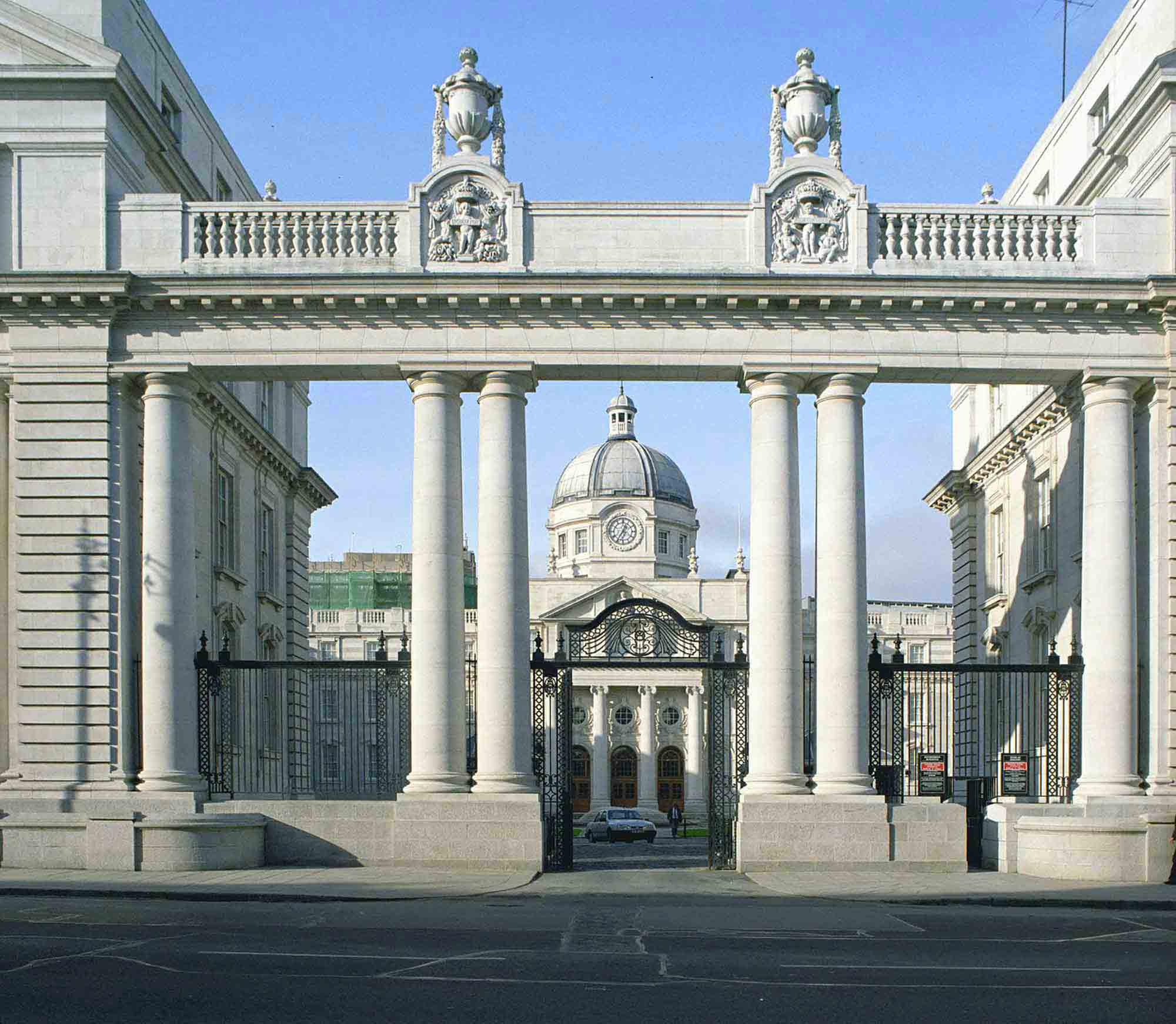 Main façade of Government Buildings on Merrion Street