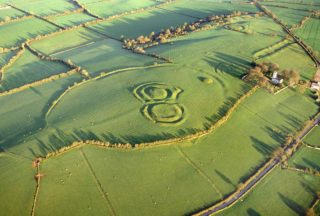 Ráith na Rí, the largest monument on Tara, built around 100BC with a circumference of 1000m