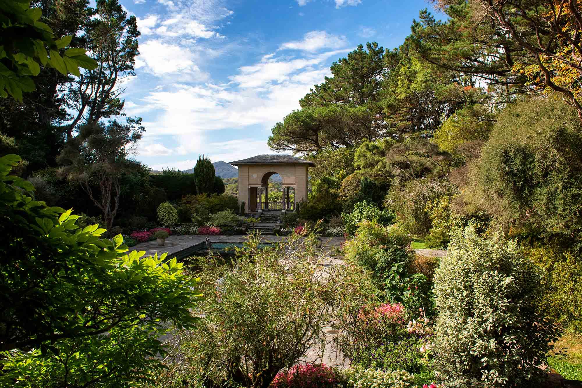 Inside the Italian garden