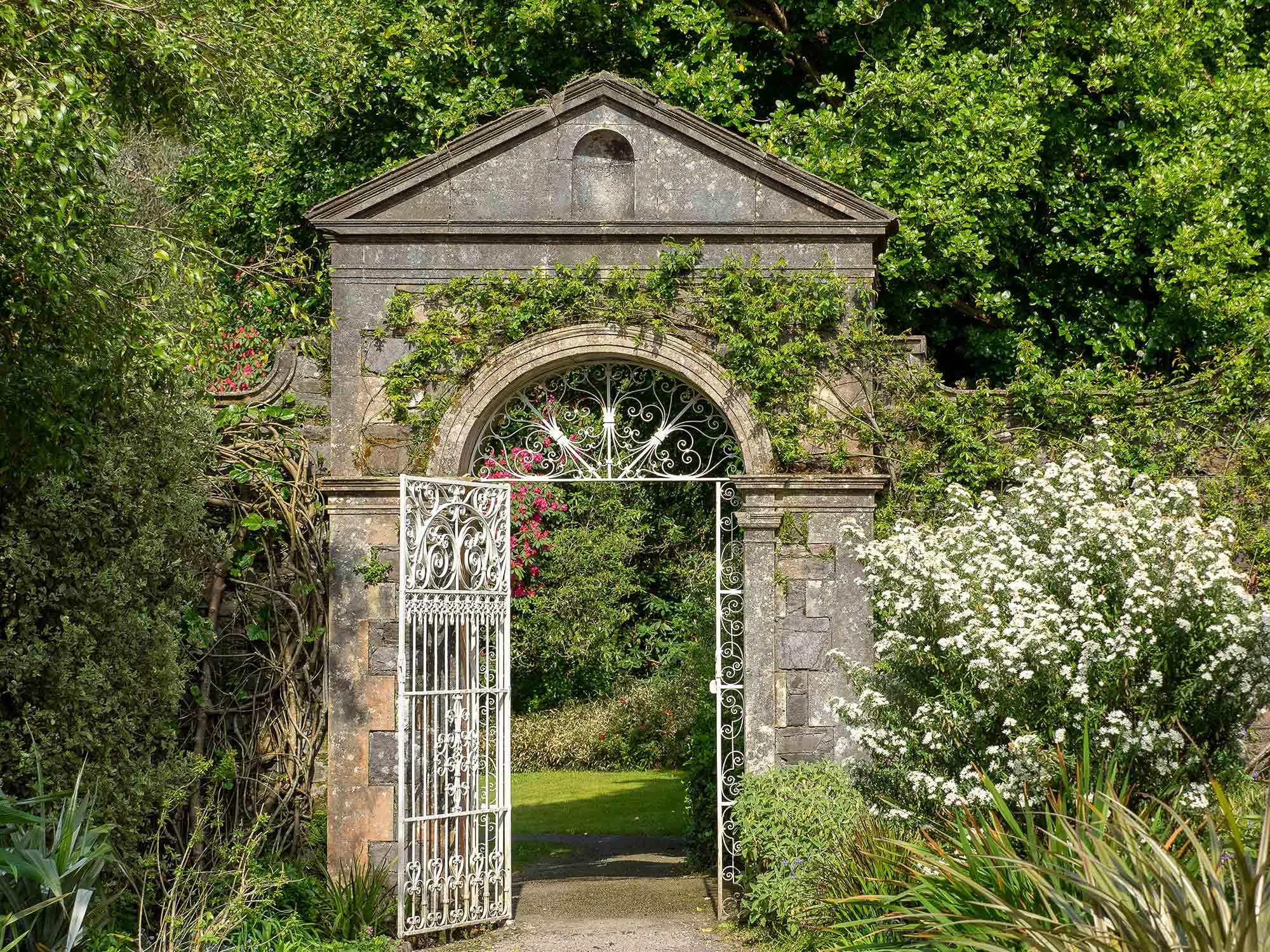 Garden gate at Ilnacullin