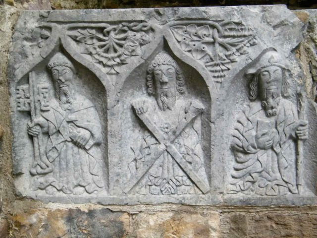 Detail from 15th century mensa tomb