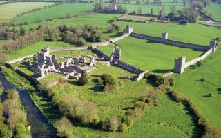 Aerial view of Kells Priory