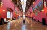 Long Gallery in Kilkenny Castle with portraits on wall