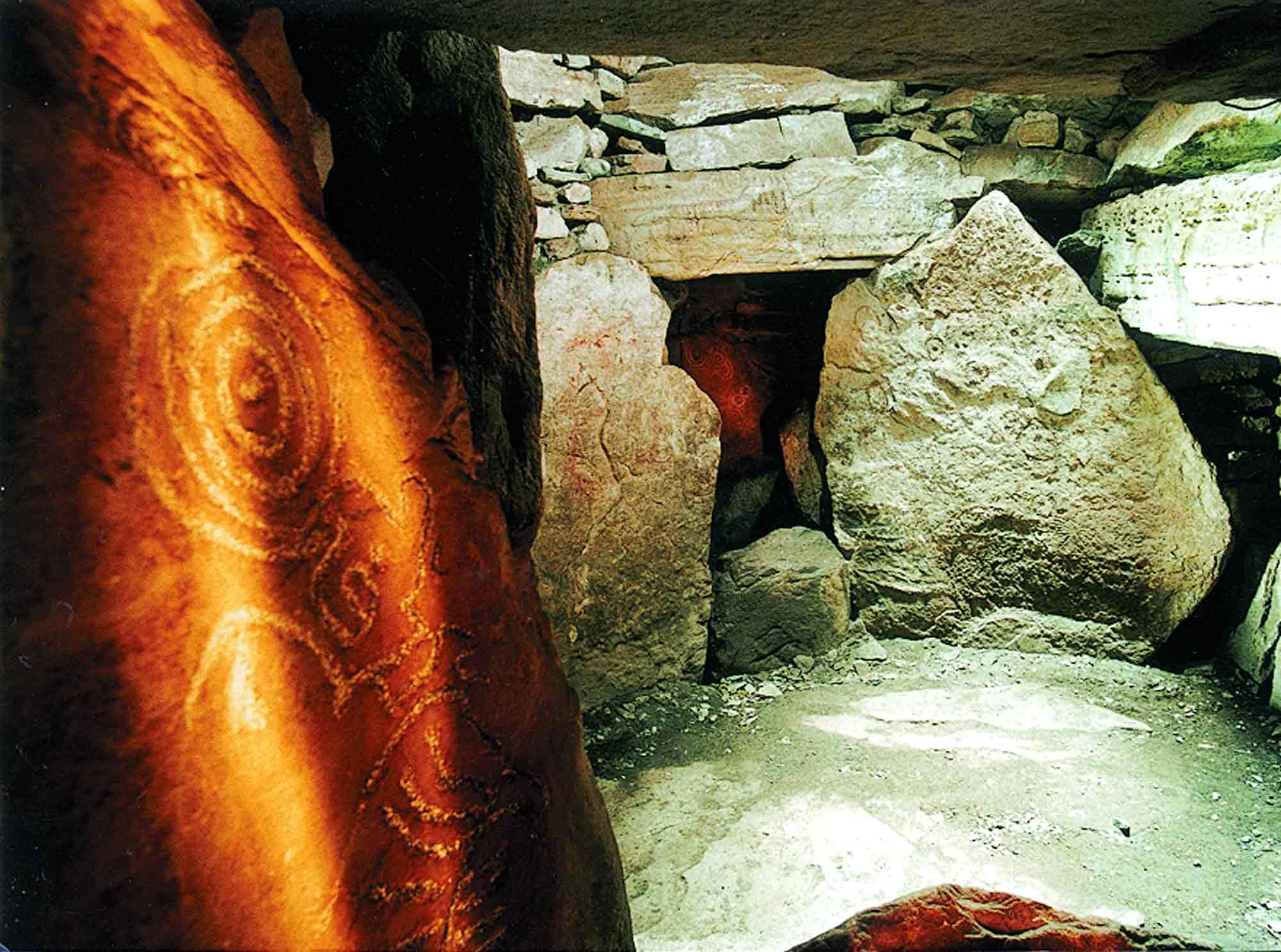Chamber at Loughcrew Cairn