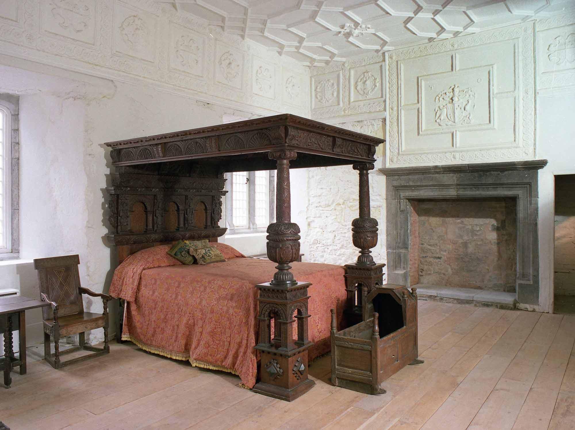 Early 17th century oak bed