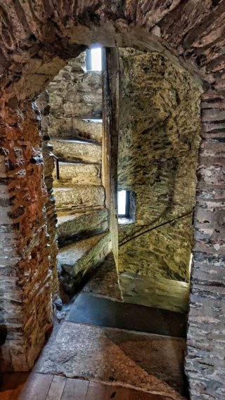 Original spiral stairs