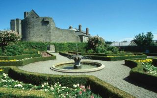 Roscrea Castle fountain