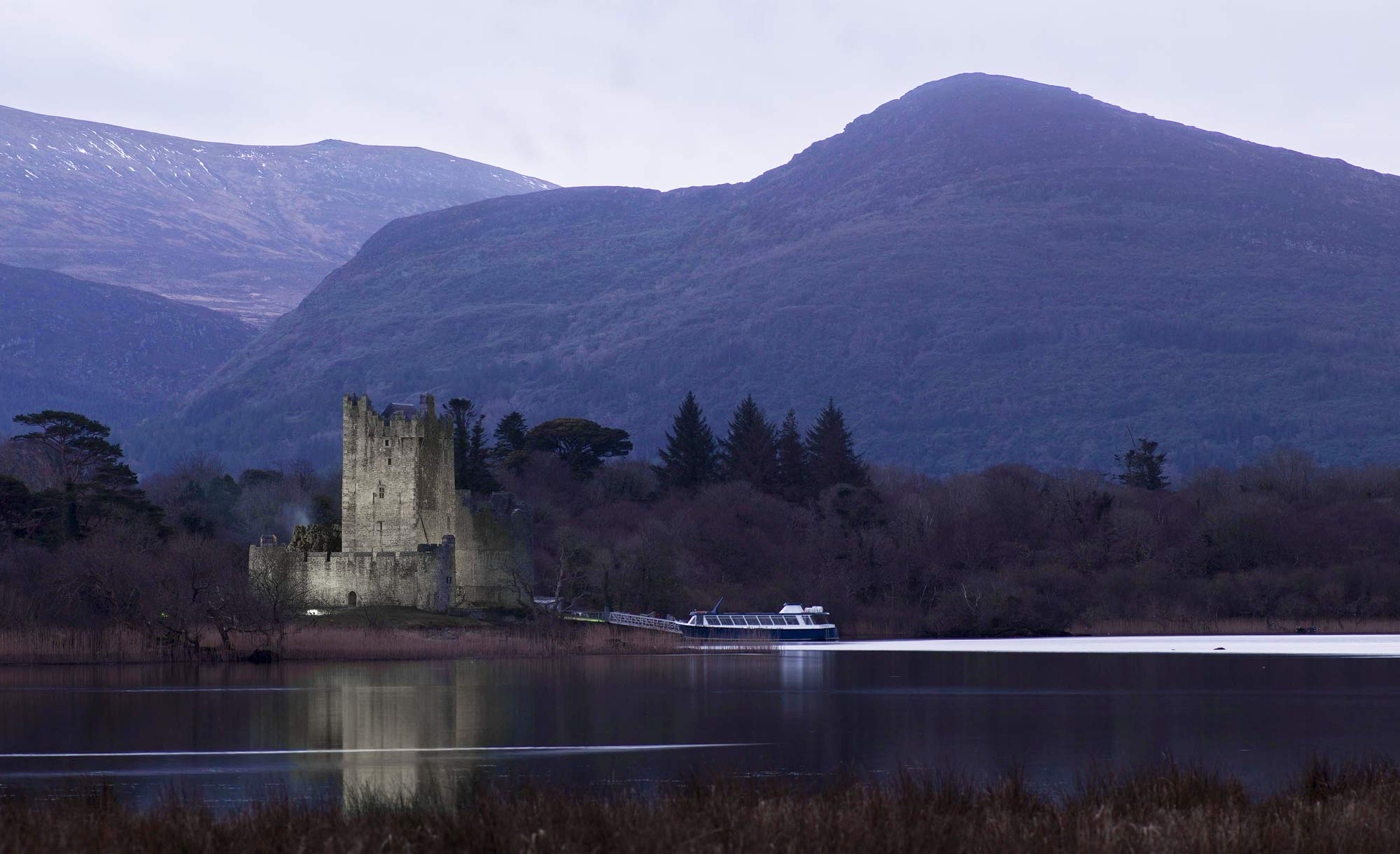 Ross Castle surrounding mountains