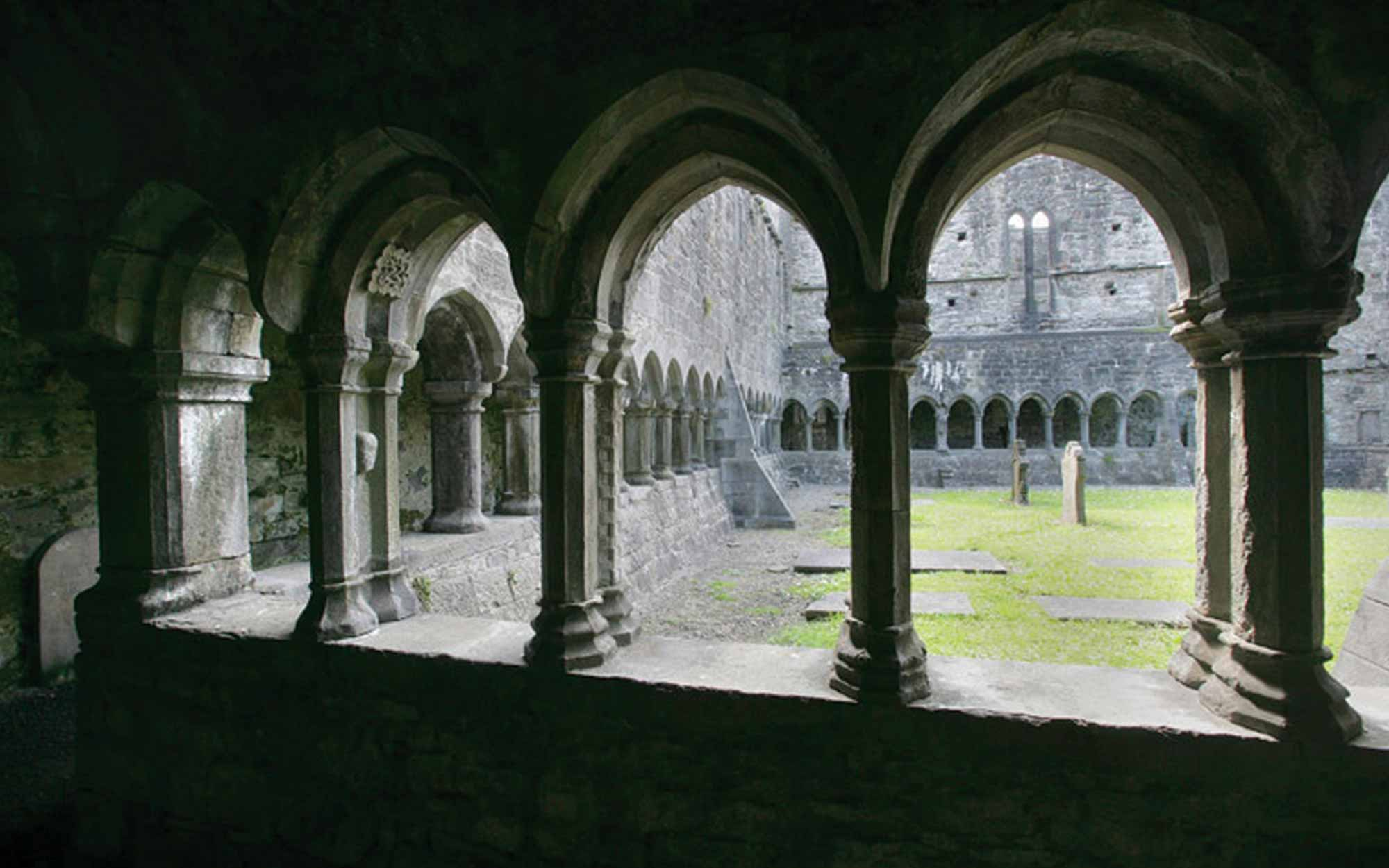 Cloister love knot stone Sligo Abbey