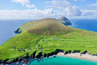 Aerial view of The Great Blasket Island