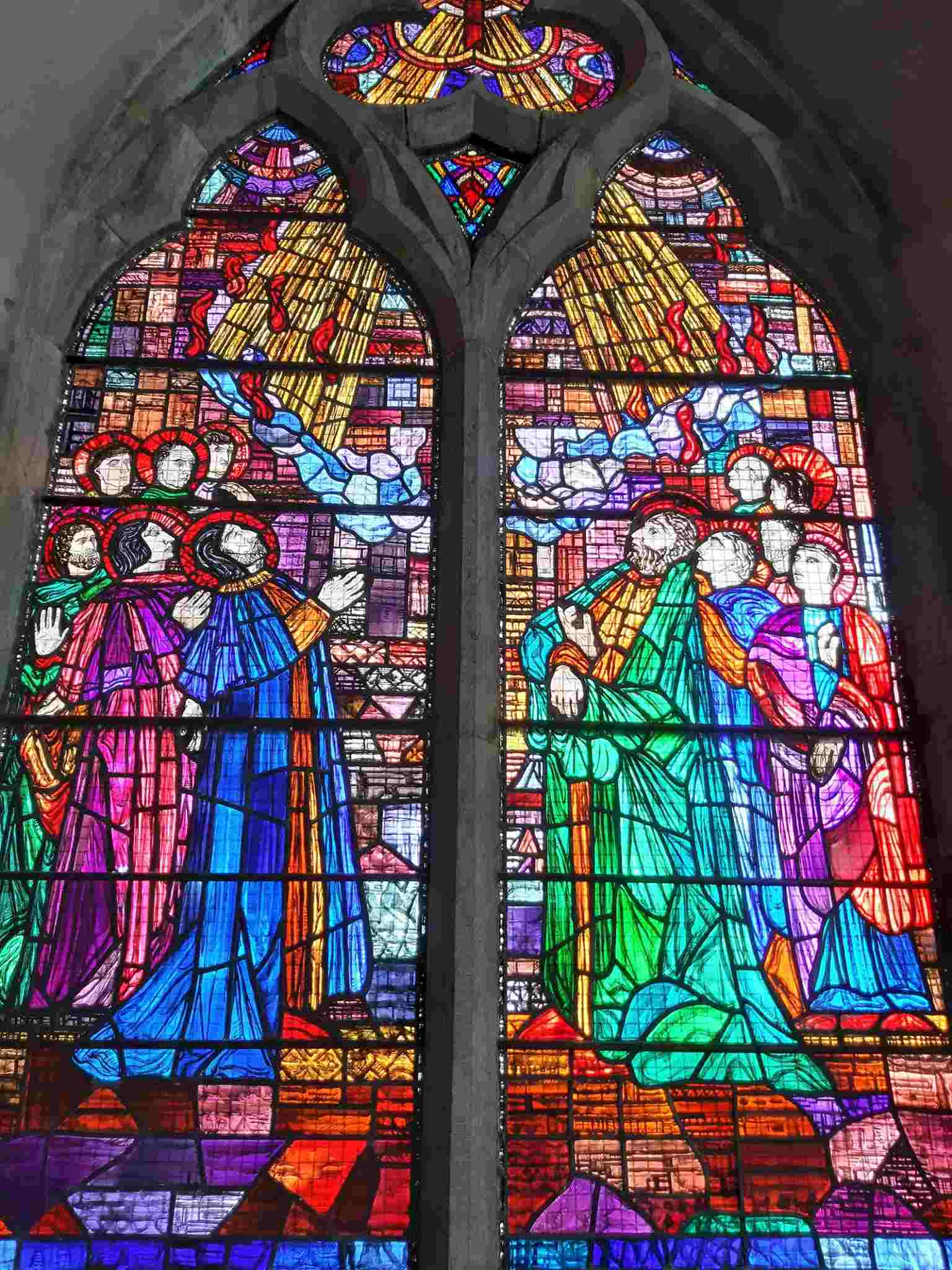 The Pentecost Window by Evie Hone in the Visitor Centre