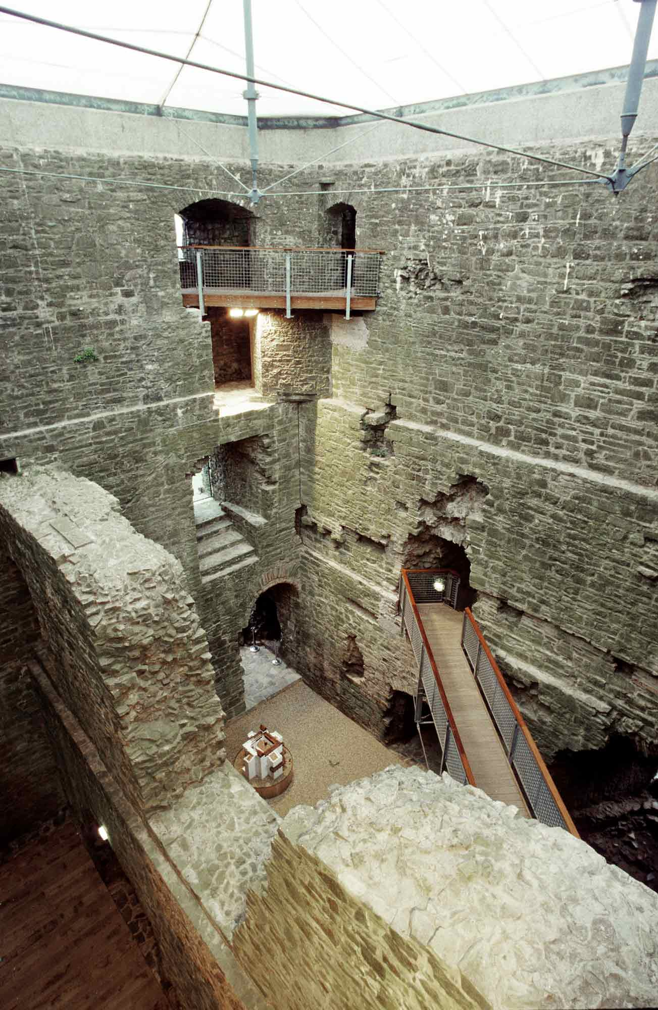 Looking down from the third floor of the Keep