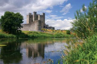 View of castle from across the River Boyne