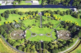 Aerial view of war memorial gardens