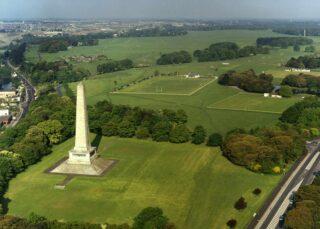 Aerial view of Wellington monument in Phoenix Park