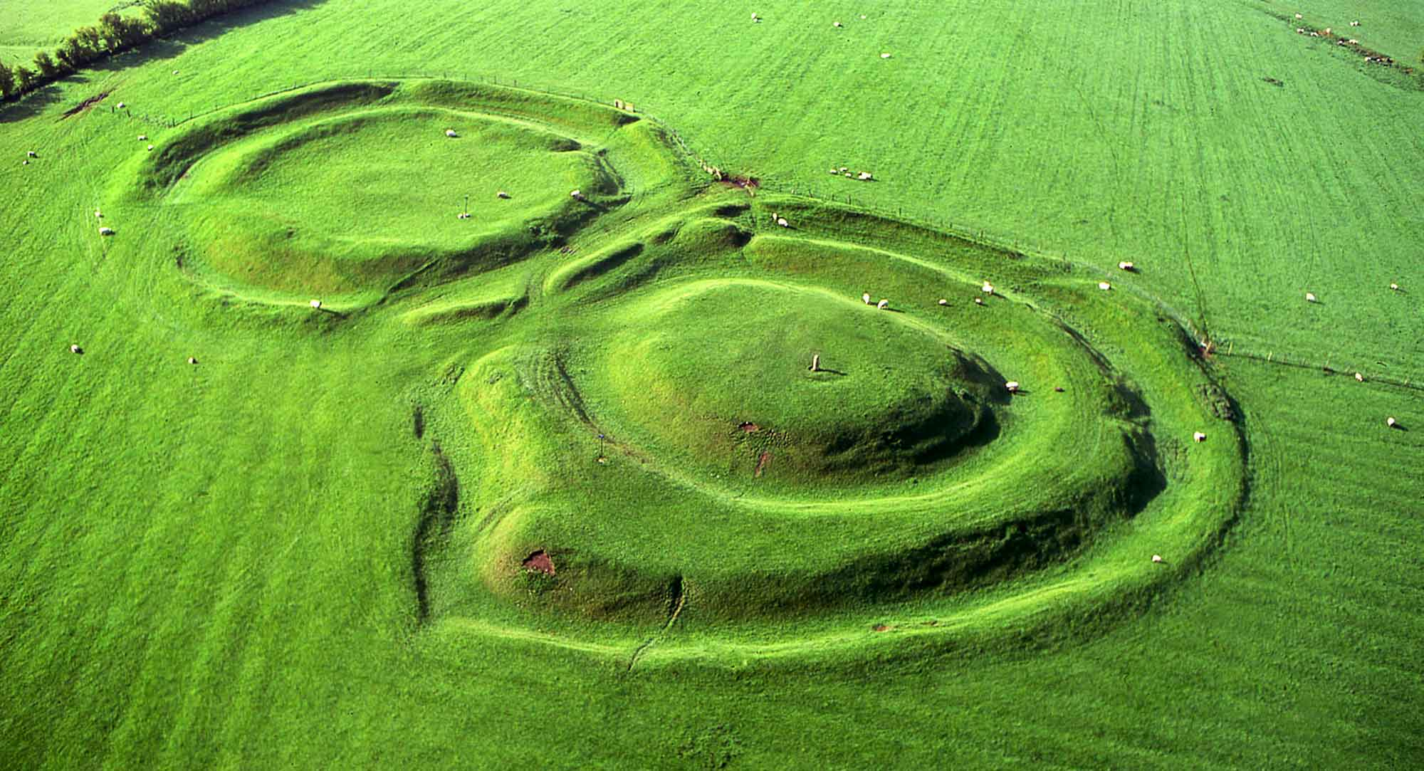 Aerial photo of the Hill of Tara