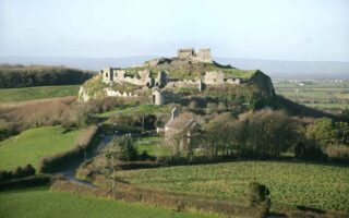 Landscape view of the Rock of Dunamase