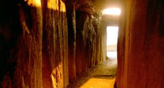 Sunrise illuminating the chamber at Newgrange.