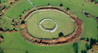 Aerial photo of Rathgall Hillfort