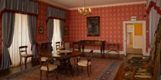 Inside the drawing room at Derrynane House