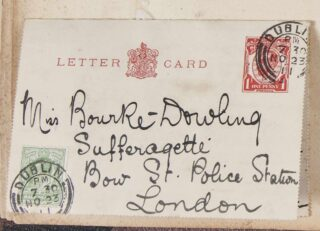 A letter sent by Mary Bourke-Dowling's brother, Joseph, addresses to her in Bow Street Police Station