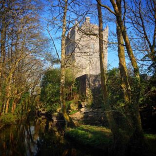 View of Aughnanure Castle from the River Drimeen