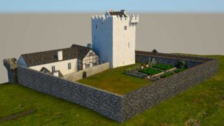 Digital reconstruction of Kilcolman Castle