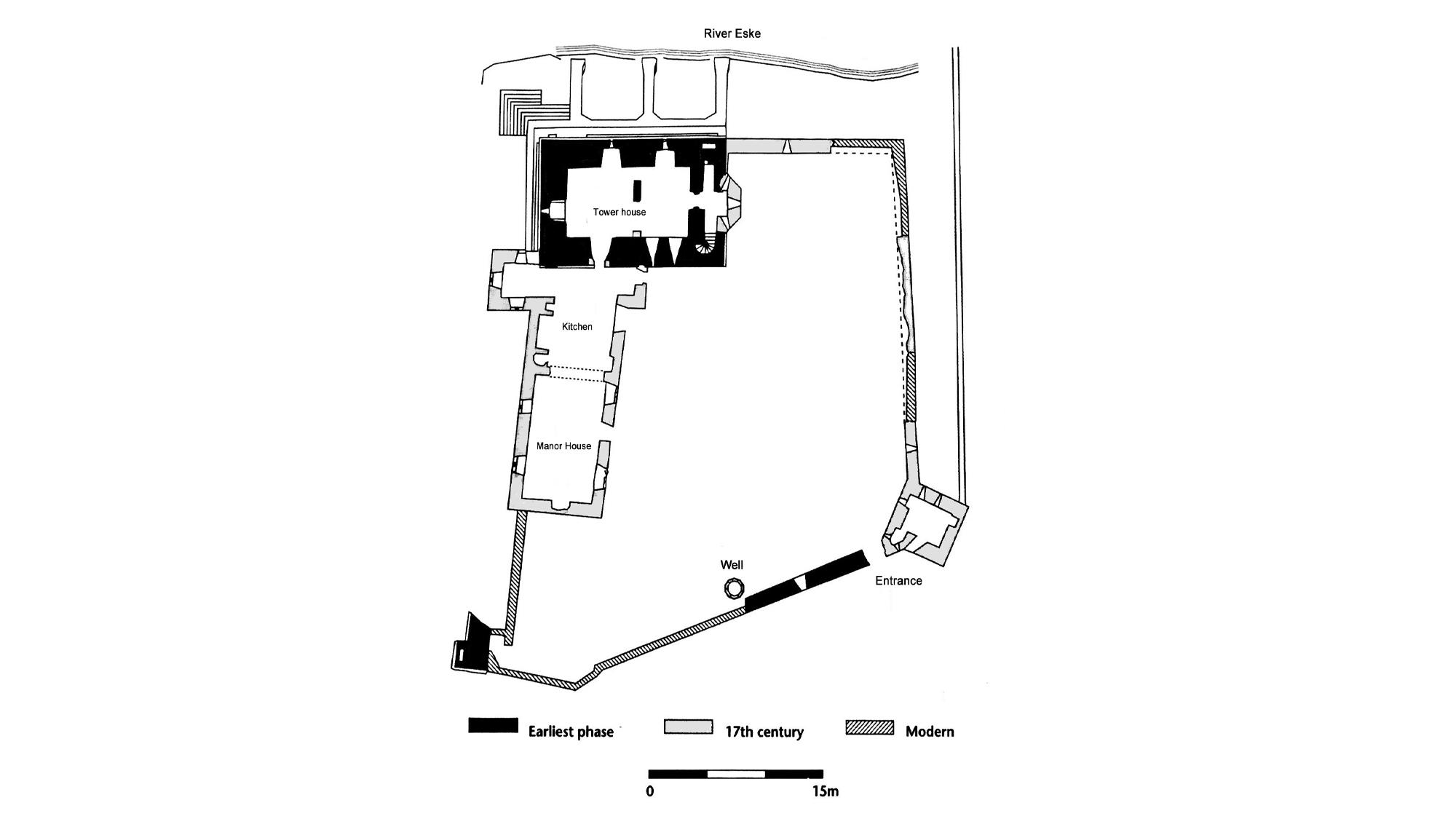 Donegal Castle plan
