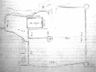 William Wakeman's plan of Aughnanure Castle, 1839